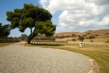 Portianos WWI Military Cemetery in Lemnos island, Greece