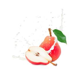 Milk splash pear