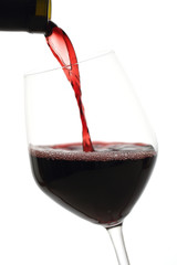 vino rosso sfondo bianco