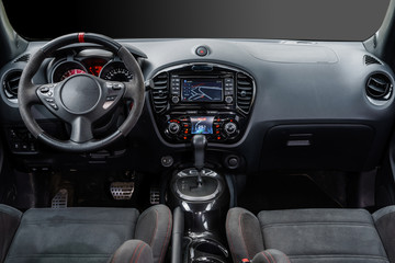 Modern sport car dashboard