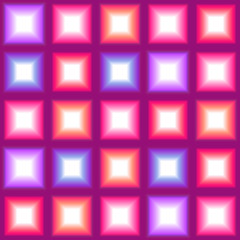 Shining multicolor square lights seamless background