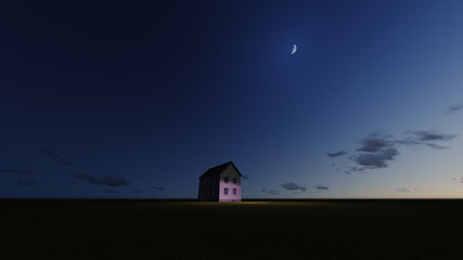Dream House by night
