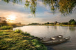 canvas print picture - River in the countryside