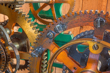 detail of clockwork from colcktower