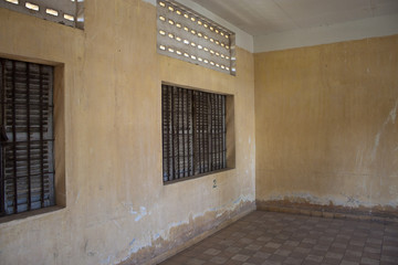 Cell in Tuol Sleng  (S21) Prison, Phnom Penh, Cambodia