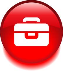Круглый векторный знак с изображением портфеля
