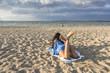 Young Girl on a sandy beach