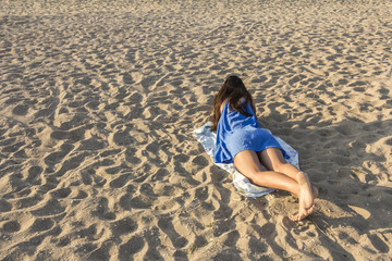 Girl on a sandy beach