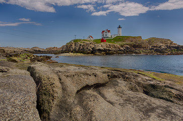 Maine Lighthouse on a Summer Day