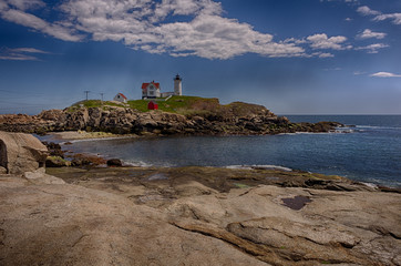Maine Lighthouse in Summer