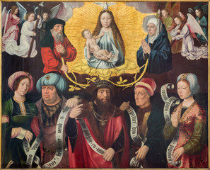 Bruges- Paint of Exaltation of Holy Virgin in st. Jacobs church