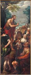 Mechelen - Sermon of st. John the Baptist in church Our Lady