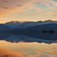 Lake Maggiore and Swiss Alps