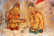 Постер, плакат: frescoes at the ancient rock fortress of Sigiriya in Sri Lanka