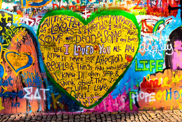 "graffiti of heart with inscription ""I LOVE YOU"""