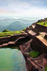 ruins of palace and fortress of Sigiriya Triangle Sri Lanka
