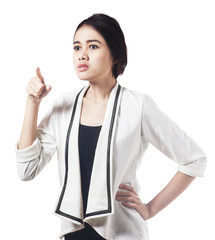 Bossy expression of asian businesswoman