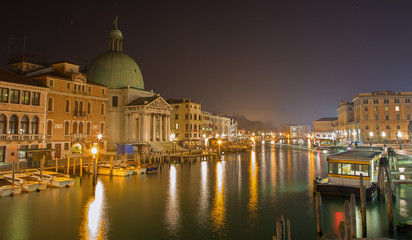Venice - Canal grande and church San Simeone Picolo