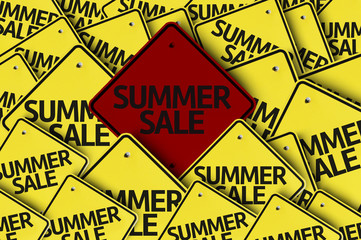 Summer Sale written on multiple road sign