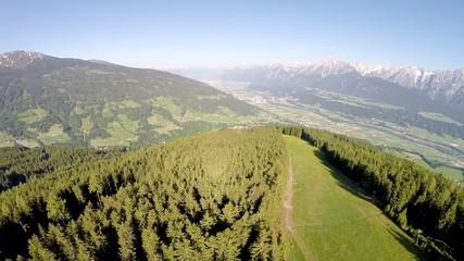 Tyrolean Alps in Summer - Aerial Flight