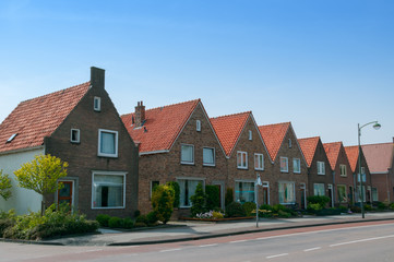 linked houses in Volendam