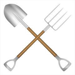 shovel and pitchfork