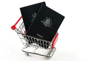 australian passports and shopping cart