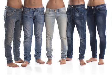 Group Of Man And Woman In Jeans