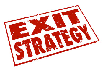 Exit Strategy Words Stamp Escape Way Out Plan