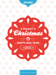 Christmas banner background red and blue portrait