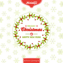 Christmas border vector background