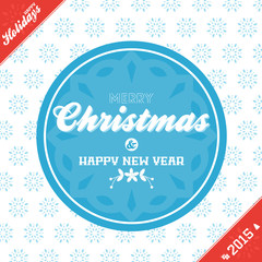 Christmas banner background red and blue