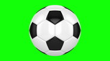 Soccer ball rotates on its axis. Seamless looped animation poster