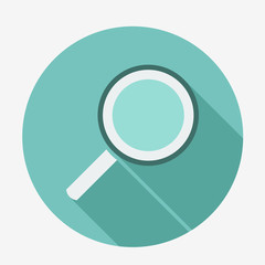 Magnifying glass icon. Vector, easy paste to any background