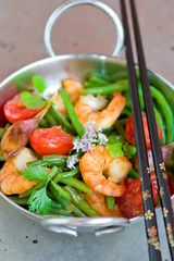 shrimps stir fry