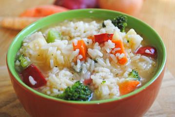 vegetarische Reissuppe