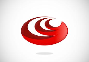 oval abstract circle vector logo