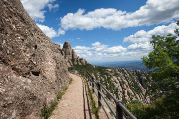 Footpath in the Montserrat Mountains