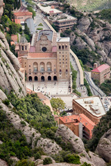Montserrat Monastery from Above
