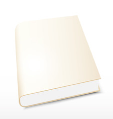 Book gold  on white background