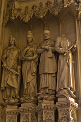Sculpture with religios theme at dominican church in Vienna