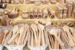 Handmade wooden covered