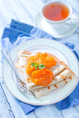 pancakes with apricot
