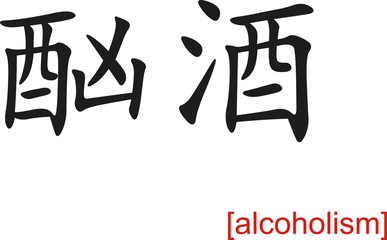 Chinese Sign for alcoholism