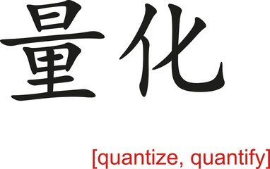 Chinese Sign for quantize, quantify
