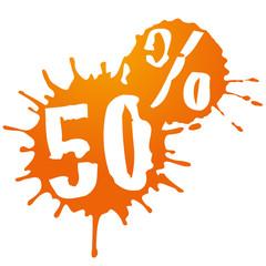50 % sale orange
