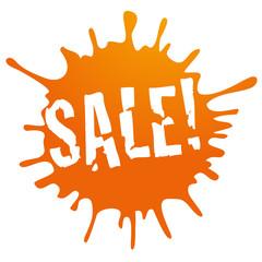 button sale! orange grunge