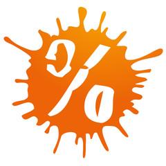 percent discount sale orange