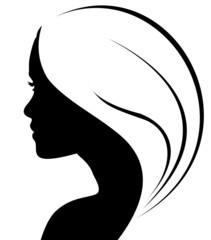 silhouette de jeune femme