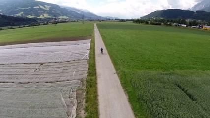 Biking through the Valley - Aerial Flight